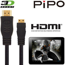 Pipo M7, M8 HD, M9 Pro, S1, U6 Android Tablet PC HDMI Mini TV 5M Gold Cable Cord