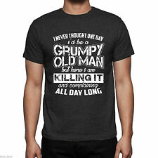 men's grumpy old man t shirt unisex adults birthday fathers day tee