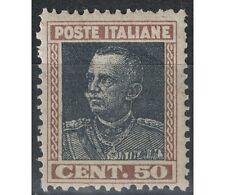 ITALIA REGNO 1927 Parmeggiani 50c bruno e grigio MNH**