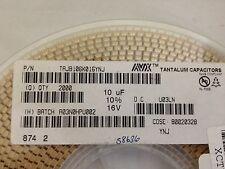 x100  AVX, TAJB106K016YNJ ,Tantalum Capacitor, 10UF 16V 10% 1210 **NEW**