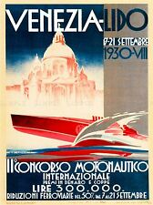 ADVERTISING EXHIBITION BOAT SHOW REGATTA MOTORBOAT SPEEDBOAT ITALY POSTER LV752