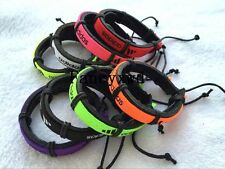 Wholesale lots 30pcs Mixed Color Sports Cuff Ethnic Tribal Leather Bracelets AD
