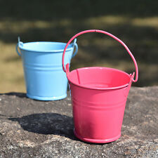 12x Mini Small Metal Pail Bucket Iron Pails For Flowers Home Party Decorations