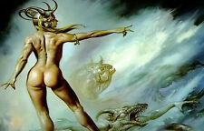 Lámina-La Princesa Del Océano mitología griega (imagen de arte cartel Mar)