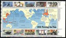 USA 1993 WWII/Planes/Ships/Army/Medical/Nurse/Soldiers/S-on-S 10v m/s (n25206)