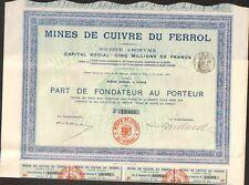 Part: Mines de cuivre du FERROL (ESPAGNE) (L)