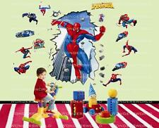 Super Hero Spiderman pared calcomanía de pegatinas Arte Decoración Infantil Niños salón dormitorio