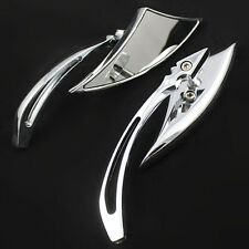 Chrome Custom Rearview Side Mirrors For Motorcycle Honda Yamaha Suzuki Kawasaki