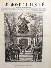 LE MONDE ILLUSTRE 1890 N 1755 A BERGERAC: LE MONUMENT DES MOBILES DE LA DORDOGNE