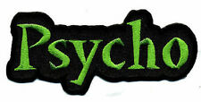 PSYCHO EMBROIDERED IRON-ON PATCH - psychobilly kar kulture nekromantix mad sin