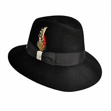 Betmar New York-Nina Fedora Wide Brim-Black-1 SFM-NWT