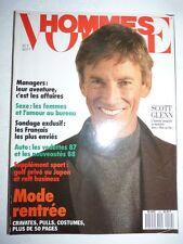 Magazine revue mode fashion VOGUE HOMMES #102 septembre 1987 Scott Glenn