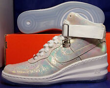 Womens Nike Lunar Force 1 Sky Hi Premium QS Iridescent Wedges SZ 8 (704518-100)