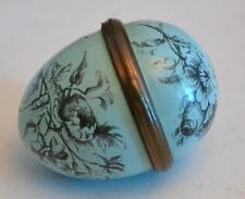Halcyon Days Made for Bilston and Battersea English Enamels Blue Egg Box