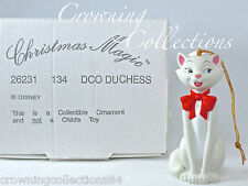 Grolier Duchess The Aristocats Disney Ornament Christmas Magic DCO Cat Santa Hat