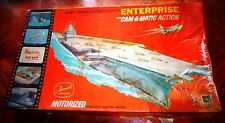 ITC (IDEAL)  CAM-A-MATIC  USS ENTERPRISE AIRCRAFT CARRIER HULL PAINTED ; PTS SEA