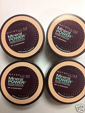 4 X TRAVEL SIZE Maybelline Mineral Power Foundation Powder CLASSIC IVORY NEW.