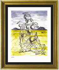 "Salvador Dali Signed & Hand-Numbered Ltd Ed ""Mother & Child "" Lithograph Print"