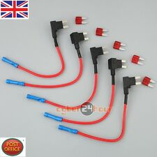 5 x ADD-A-CIRCUIT BLADE STYLE ATM Tap Piggy MINI FUSE HOLDER + 15A FUSE
