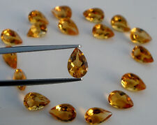 Citrine Pear Gem 9x6mm