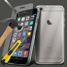 Clear Silicone Slim Gel Case and Screen Protector for iPhone 6S Plus 5.5 Inch
