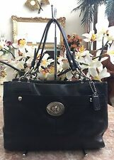 Coach Penelope Black Leather  Carryall Satchel Shoulder Handbag Purse F16531 EUC