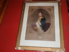 ANTIQUE FRAMED NEPOLEON BONAPARTE PRINT P. DELAROCHE 18 X 14 INCHES