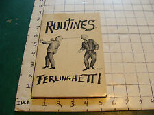 vintage book: ROUTINES by Lawrence Ferlinghetti, 1964
