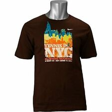 Nike Mens Tennis 2010 NYC Flushing Meadows TShirt sz Large RF Federer Nadal NWT