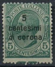 Austriaca acquisito ITALIA 1921-2 SG # 77 5C di C su 5c MNH PERF SHIFT errore #D 9112