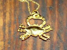 18 kt Gold Vermeil over Sterling Silver Crab Charm Necklace