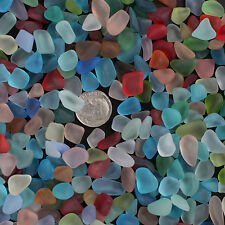 sea beach glass 20 pieces mixed color lot bulk blue green red yellow jewelry use