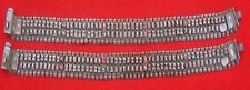 ANTIQUE TRIBAL OLD SILVER ANKLET PAIR RAJASTHAN INDIA