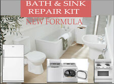 NEW ENAMEL BATH & SINK AND APPLIANCES REPAIR KIT CHIP REPAIR HIGH GLOSS WHITE