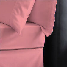Soft Plain Dyed fitted sheets,Flat sheet or Pillow Cases Single,Double,King