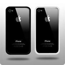 Black Bumper and White Bumper Case for Apple iPhone 4 and 4s & Screen Protector