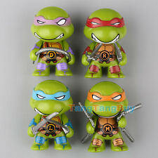 4 Mini Teenage Mutant Ninja Turtles TMNT Action Figures Set Children's Toy Gift