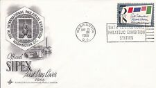 USA 1966 Official Sipex  FDC