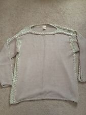 H&M Trend Beige Gold Knit Blogger Winter Autumn Sweater Jumper UK10 US6 EUR36