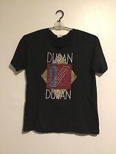 Duran Duran T-Shirt Black Size L Large Vintage Concert Tour Retro Graphic    110