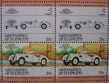 1936 BMW 328 Roadster Sports Car 50-Stamp Sheet / Auto 100 Leaders of the World