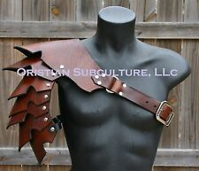 Single Leather Basic Cloven Hoof Spaulder Armor articulated cosplay Gladiator