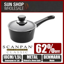 100% Genuine! SCANPAN Classic 18cm 1.5L Non-stick Saucepan with Lid! RRP $269.00