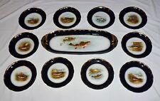 Delinieres (D&C) Limoges Fish Platter & Ten Plates