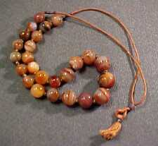 ANTIQUE CHINESE EXPORT AGATE GRADUATED BEAD NECKLACE