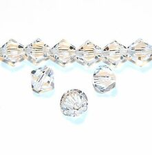 SCB611sp CRYSTAL Clear Xilion Faceted Bicone 8mm Swarovski Beads 12/pkg