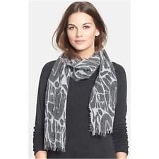 NWT Eileen Fisher Felted Wool Shadows Fringed Scarf Wrap $158