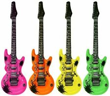 Inflatable Guitar Party Children Blow Up Toys Disco DJ Fancy Dress Prop