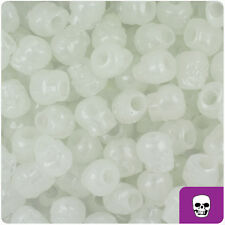 150 Glow-in-the-Dark 11mm Halloween Skull Pony Beads Made in the USA
