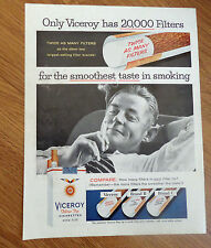 1956  Viceroy Cigarette Ad  Only Viceroy has 20,000 Filters